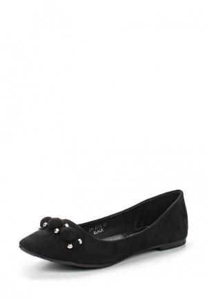 Балетки Ideal Shoes. Цвет: черный