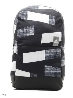 Рюкзак A CLASSIC M G4 GRETWO/GRETHR/WHITE Adidas. Цвет: черный, белый, серый