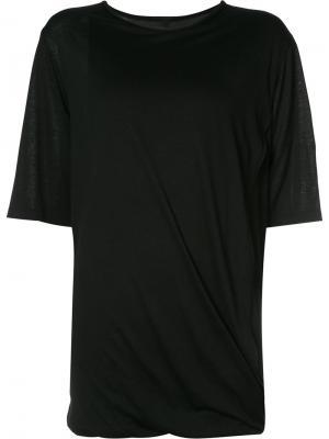 Драпированная футболка Forme Dexpression D'expression. Цвет: чёрный