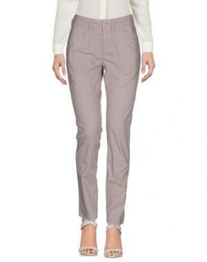 Повседневные брюки MANILA GRACE. Цвет: голубиный серый