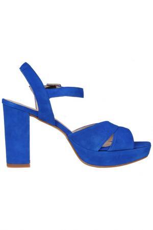 Босоножки Sessa. Цвет: синий