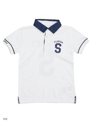 Футболка-поло Mayoral. Цвет: белый