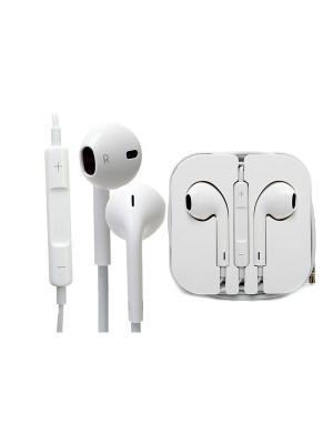 Гарнитура вкладыши Apple MD827ZM/B 1.1м белый проводные. Цвет: белый