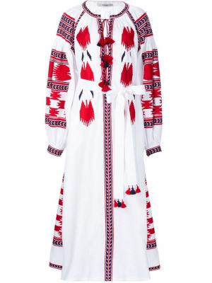 Embroidered tasseled dress Vita Kin. Цвет: белый