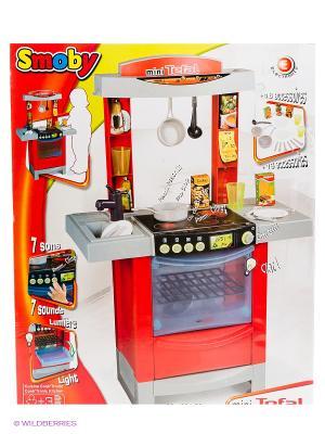 Кухня Tefal Cook Tronic 56*27*86 см., 1/3 Smoby. Цвет: красный