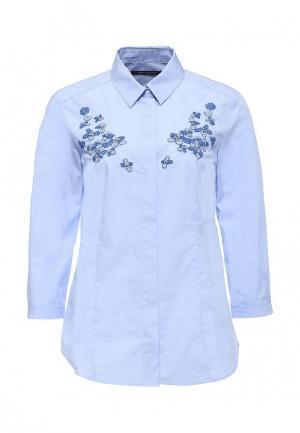Рубашка Pennyblack. Цвет: голубой