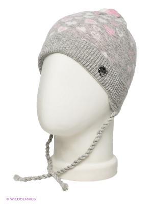 Шапка ELFE. Цвет: светло-серый, бледно-розовый, белый