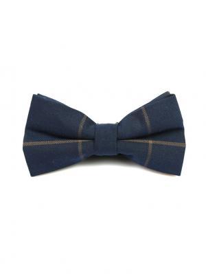 Галстук-бабочка Churchill accessories. Цвет: темно-синий, синий, рыжий, горчичный, желтый