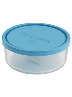 Контейнера стеклянные B388470-1  Bormioli Rocco Стеклянный контейнер Frigoverre круглый d-23 см, 260. Цвет: синий