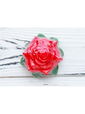 Сувенир.мыло - Роза с лепестками Entourage. Цвет: красный