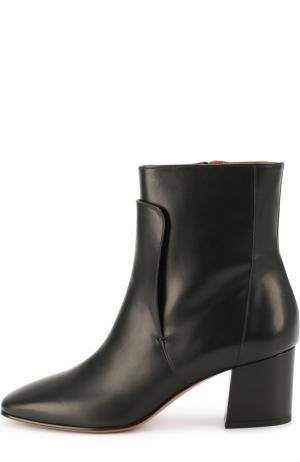 Кожаные ботильоны на устойчивом каблуке Givenchy. Цвет: черный