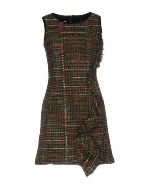 Короткое платье TENAX. Цвет: стальной серый
