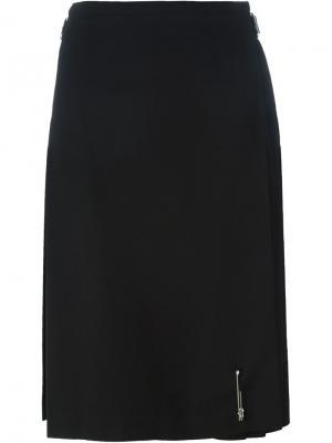 Плиссированная юбка-миди Le Kilt. Цвет: чёрный