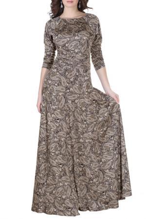 Платье Olivegrey. Цвет: черно-бежевый