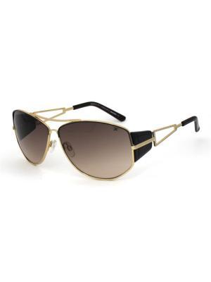Cолнцезащитные очки Exenza. Цвет: коричневый, золотистый