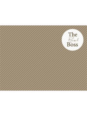 Сервировочная салфетка THE REAL BOSS Contento. Цвет: коричневый, бежевый, белый