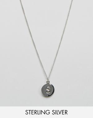 Fashionology Серебряное ожерелье с инициалом S. Цвет: серебряный