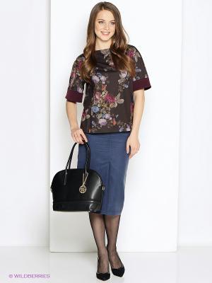 Блуза DEVORE. Цвет: коричневый