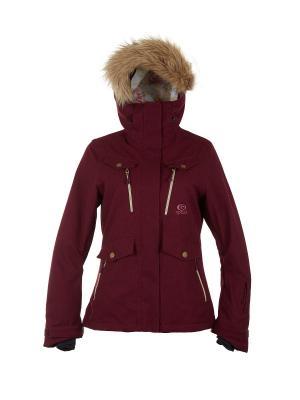 Куртка  CHIC FANCY JKT Rip Curl. Цвет: темно-бордовый, бордовый, сливовый