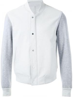 Флисовая куртка-бомбер Wooyoungmi. Цвет: белый