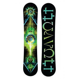 Сноуборд  Volt Posi Cam Sidewall Black/Green Lamar. Цвет: черный,зеленый