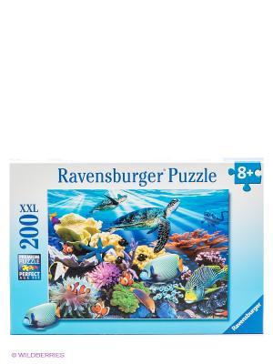 Пазл Морские черепахи XXL, 200 элементов Ravensburger. Цвет: голубой