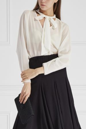 Блузка из шелка и хлопка Cyrille Gassiline. Цвет: белый
