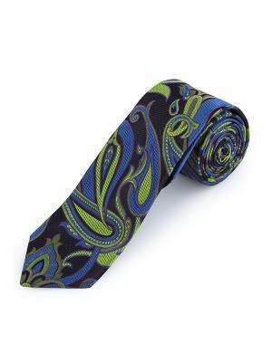 Галстук High Paisley Apple Duchamp. Цвет: черный, горчичный, салатовый, серо-голубой, синий, темно-фиолетовый