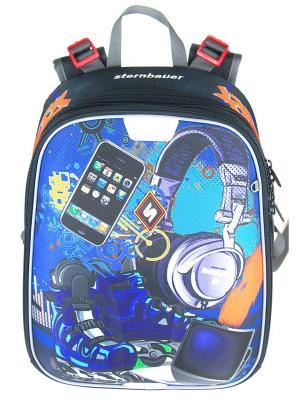 Рюкзак STERNBAUER. Цвет: синий, оранжевый, черный