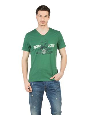 Футболка Colin's. Цвет: зеленый