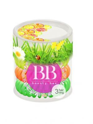 Резинка-спиралька для волос набор Летний Beauty Bar. Цвет: салатовый