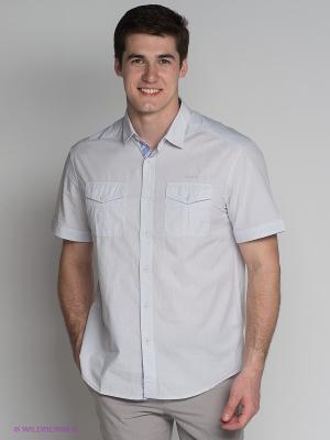 Рубашка Finn Flare. Цвет: светло-голубой