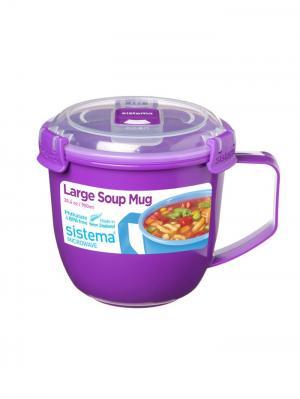 Кружка суповая TO-GO 900мл Sistema. Цвет: фиолетовый