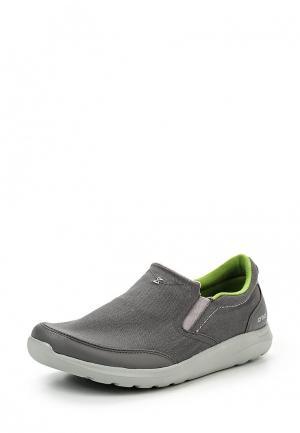 Слипоны Crocs. Цвет: серый