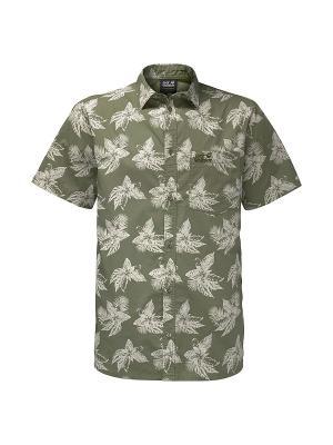 Рубашка HOT CHILI TROPICAL SHIRT Jack Wolfskin. Цвет: хаки