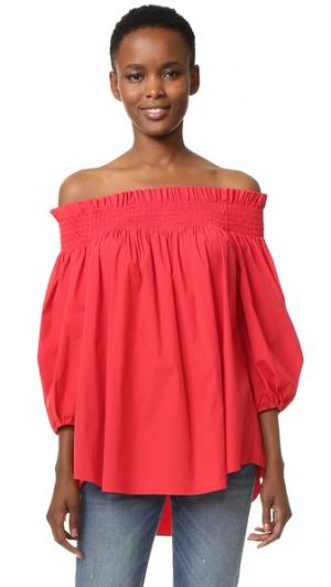 Блуза Lou с открытыми плечами Caroline Constas. Цвет: красный