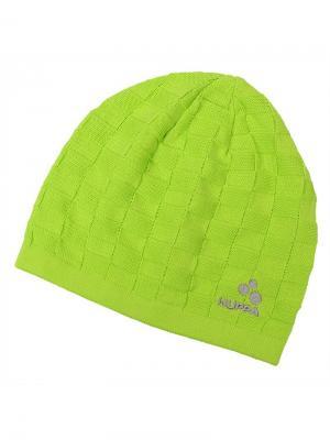 Вязаная детская шапка PEEP HUPPA. Цвет: светло-зеленый