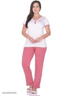 Комплект Alfa. Цвет: белый, розовый