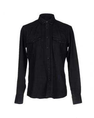 Джинсовая рубашка M.GRIFONI DENIM. Цвет: черный