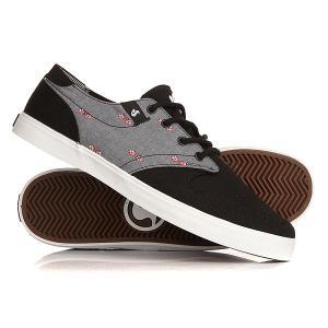 Кеды кроссовки низкие  Whitmore Black Chambray DVS. Цвет: черный,серый