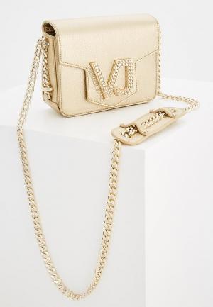 Сумка Versace Jeans. Цвет: золотой