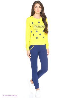 Костюм женский (джемпер, брюки) MARSOFINA. Цвет: желтый, темно-синий