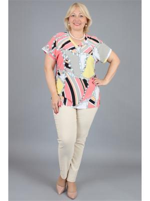 Блузка NadiN. Цвет: светло-коралловый, желтый