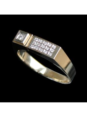 Ювелирное кольцо Диковинка. Цвет: золотистый