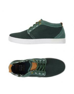 Низкие кеды и кроссовки MONTEFIORI. Цвет: зеленый