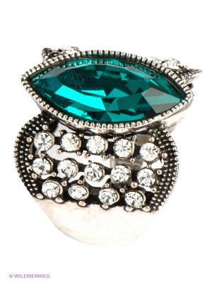 Кольцо Bijoux Land. Цвет: серебристый, зеленый