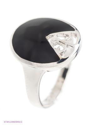 Кольцо BALEX. Цвет: черный, серебристый