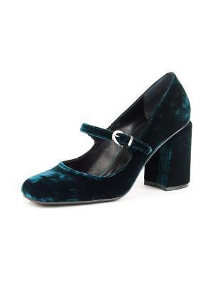 Туфли Lottini. Цвет: темно-зеленый