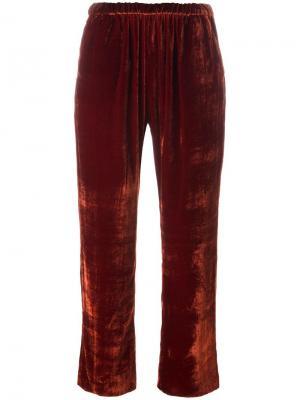 Укороченные брюки с эластичным поясом Masscob. Цвет: жёлтый и оранжевый