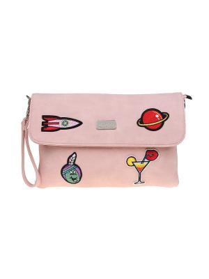Клатч Bags Garden. Цвет: розовый, красный, фиолетовый